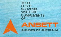 Ansett Airlines of Australia Logo Australian Airlines, Australian Vintage, Airline Logo, Air New Zealand, Old Signs, Logo Sticker, Travel Posters, Vintage Posters, Aviation