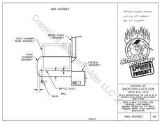 "24"" diam by 46.5"" long Reverse Flow Smoker Plans Firebox Right"
