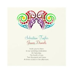 Two Heart Wedding Invitations  Two #hearts wedding invitations .. ideal for the same sex