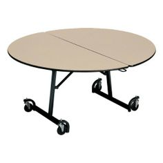"Uniframe Round Mobile Table w/ Black Frame and Bull-Nose Edge (72"" Diameter) by KI. $647.99"