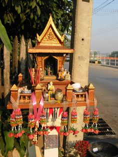 Thailand spirit house.  Have I mentioned how hot it is in Thailand?