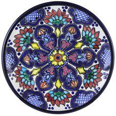 Talavera Bread Plate Pattern 02 Online Discount TH002C