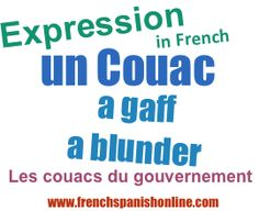 Daily French Expression: a gaff, a blunder http://www.frenchspanishonline.com/magazine/?p=4202