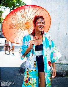 Fantasia de Gueixa - Carnaval de rua Rio de Janeiro