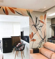 Stencil Designs, Wall Art Designs, White Sharpie, Small Balcony Decor, Mural Wall Art, School Decorations, Modern Boho, Bedroom Wall, Interior Decorating