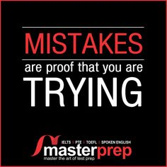 Don't get disheartened when you see so many mistakes in your mock English tests while preparing for #TOEFL, #IELTS or #PTEAcademic! Keep practicing with focus and consistency. You can avail our expert #EnglishTraining team's help to clear these #EnglishProficiency tests with good band! www.masterprep.in