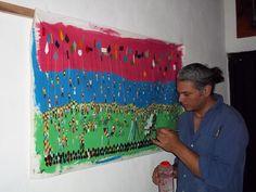 Rafael Morales, artista del estado Mérida, Venezuela, pintura ingenua  o Naif.