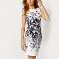 6ccdbc15ee Női ruha virágokkal - fehér Nyári Ruhák, Sexy Dresses, Alkalmi Ruhák,  Bélyegzőkészítés,