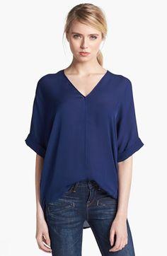 Vince Sheer Silk Blouse   Nordstrom - Makes dressing easy