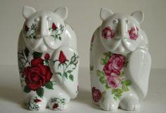 kočky porcelán, Royal Dux, autor Pravoslav Rada