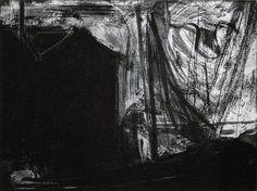 Paddle8: Pier at Night, Stormy Sky - Paul Resika