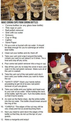 How to cut glass.  I would not use beer bottles (I don't like beer) but I think it would be cool to know how to cut glass.