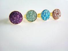 Fall/winter 2017..#handmadejewellery #jewellery #rings #gold #shine #sparkle #purple #green #blue #copper #autumn #winter #collection #jamjar_gr #bloggers #greekblogger