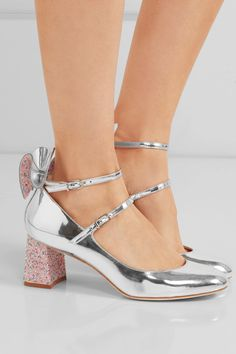 5ba787f13 Sophia Webster - Lilia bow-embellished mirrored-leather Mary Jane pumps
