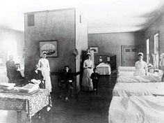 Nurse training, much different than today. Washing poultice cloths, washing dishes, sweeping floors, washing patients, making beds, and only off one day a week.