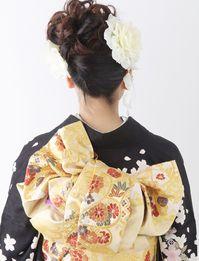 #成人式帯結び/kimono obimusubi Japanese Outfits, Japanese Fashion, Wedding Hair And Makeup, Hair Makeup, Kabuki Costume, Yukata, Japanese Kimono, Traditional Dresses, Hair Looks