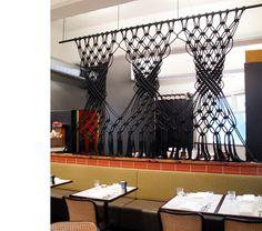 Beautiful installation at Lumino restaurant in Melbourne.