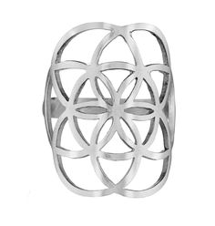Big Seed of life Ring - Sterling Silver 925 sizes 6 7 8 9 - Flower of life #Magaya #Ring