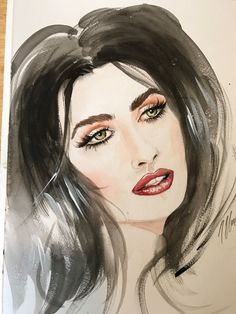Abigail Ratchford Portrait Water Color  by MayaSpielmanArt on Etsy