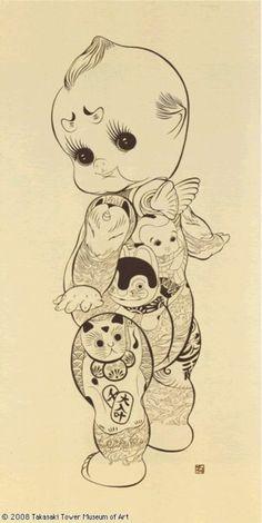 tattooed kewpie   Kumi Machida
