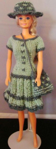 Best Ideas For Sewing Patterns Free Toy Barbie Clothes Barbie Knitting Patterns, Barbie Clothes Patterns, Sewing Patterns Free, Clothing Patterns, Dress Patterns, Pattern Dress, Crochet Baby Dress Free Pattern, Crochet Dress Girl, Cute Crochet