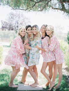 This bride and babes. In robes and playsuits from Plum Pretty Sugar's Signature Collection. Shop at www.PLumPrettySugar.com