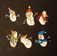 Darling fingerprint snowmen craft!