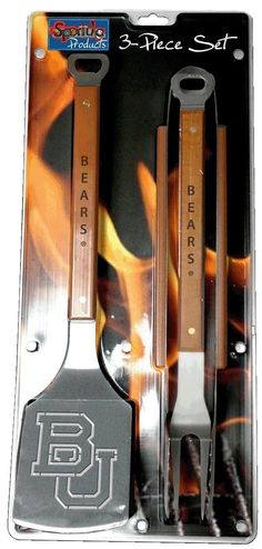 3-piece Baylor Bears barbecue set