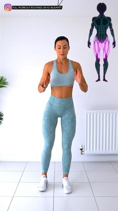 Full Body Gym Workout, Gym Workout Videos, Gym Workout For Beginners, Fitness Workout For Women, Butt Workout, At Home Workouts, Deltoid Workout, Leg Day Workouts, Yoga Fitness