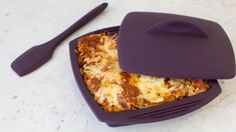 Speedy Lasagna use ricotta cheese only and less marinara sauce Epicure Steamer, Real Food Recipes, Cooking Recipes, Pasta Recipes, Epicure Recipes, Vegan Recipes, Fast Easy Meals, Easy Dinners, Tupperware Recipes