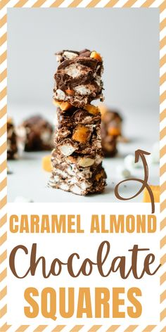 This Chocolate Caramel Almond Squares recipe is an easy no-bake recipe that everyone will enjoy and is great to make with the kids! #Chocolate #Squares #Recipe #ChocolateSquares #Dessert #NoBake #EasyRecipe #NoBakeRecipe #TheBestChocolateSquares via @xtremecouponmom
