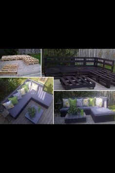 Pallet inspired outdoor furniture