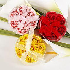 Rose Petal Soaps Wedding Favor – Set of 4 (More Colors) – USD $ 9.99