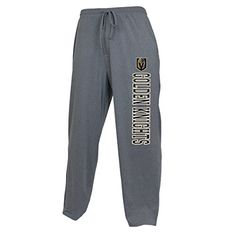 Vegas Golden Knights NHL Men's Sleepwear Pajama Pants  https://allstarsportsfan.com/product/vegas-golden-knights-nhl-mens-sleepwear-pajama-pants/  Officially licensed apparel by Concept Sports 88% Polyester 12% Spandex – Machine washable – Imported Heat sealed graphics at front of team logo and name printed down leg