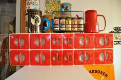 Red for the retro kitchen