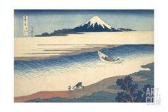 Bushu Tamagawa (The Tama River in Musashi Province) Giclee Print by Katsushika Hokusai at Art.com