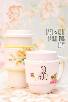 Easy and Cute Fabric Mug Cozy