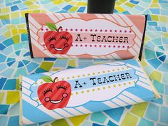 Free Printable Teacher A+ candy bar wrappers