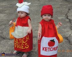 French Fries and Ketchup - 2013 Halloween Costume Contest via @costumeworks