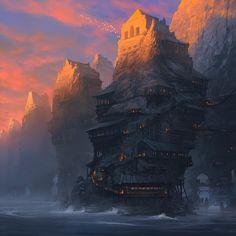 Magic Tower, Noah Bradley  http://m1.paperblog.com/i/58/583507/noah-bradley-ilustraciones-L-Zwn4T9.jpeg