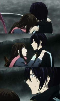 Yato and Hiyori - I love the look on his face!