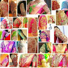 Blouse sleeve designs for bridal sarees