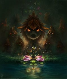 Creative Fantasy Illustrations by uniqueLegend Legebd of Zelda: Majora's Mask