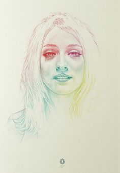 RR portrait | colours  Colored Pencils 2011    Oriol Angrill Jordà