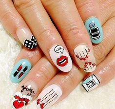 Yazbukey inspired nail art www.salonfanatic.com