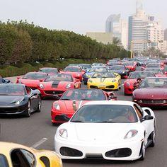 Just your average traffic jam in Dubai