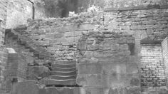 Incomplete medieval staircase in Newcastle old town