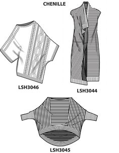 Flat sketches done using Adobe Illustrator