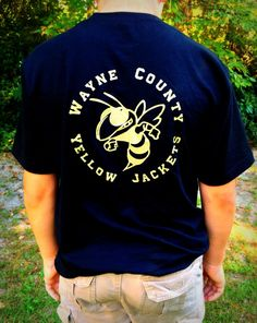 Boys, Yellow Jacket, Custom School Spirit T shirt, Made to Order  by PoshPrincessBows1