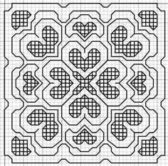 Imaginesque: Blackwork Embroidery: Small Motif Pattern
